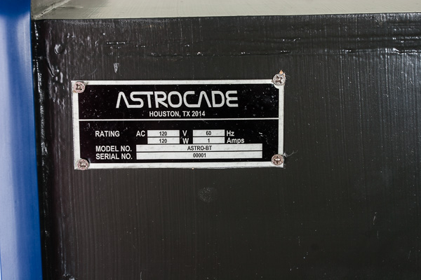 Astrocade Serial Plate