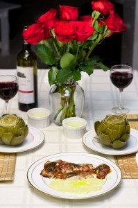 A Roman Feast: Veal Saltimbocca, Artichokes, and Polenta